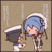 出撃する浦風お姉さんと日振