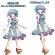 NYNKRN姉貴と未改変版(Dairi式小傘)の比較