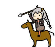 【GIF】槍を投げる絆星あかり