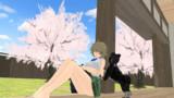 【MMD】「お通と犬と桜」