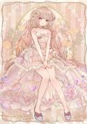 ふわふわクリームケーキドレス(水彩)