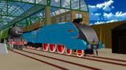 [MMDモデル配布]LNER class A4 Mallard