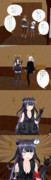 某鬼退治アニメを見た天龍と佐渡
