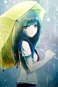 私は明るい色の傘しか持たないのよ。