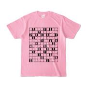 Tシャツ | ピーチ | ALPHABET_GRAVEL