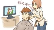 沖野トレーナーの髪型誕生秘話。