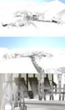 【MMD】雪山の村【ステージ配布】