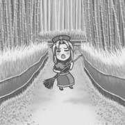 【GIFアニメ】どれだけの時が流れても、変わらず竹林で歌い続けるえーりん。