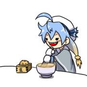 【うごくよ!】煎り大豆を粉にする佐渡様【うごくよ!】