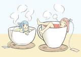お茶の葉茜・葵