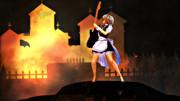 MV撮影の為に燃やされる紅魔館