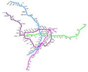 都営地下鉄の路線図
