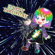 宇宙好きな創作家さんの誕生祝い絵