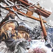 雪の博麗神社