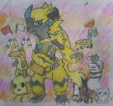 ゼラオラと動物描いてみた