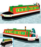 【モデル配布あり】ナローボート(カナルボート) ソドー・メイド号仕様
