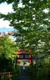 艦娘と海が見える神社
