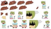 ネッコー☆Squeaker-chanまとめ+同シーンに出てくるRaku-chan