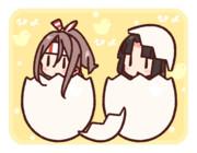 ぴよぴよの祥鳳さんと瑞鳳さん