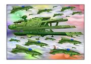 ガミラス三段空母バルグレイ七色星団艦載機