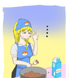お菓子を作るMZ