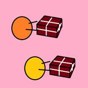 バレンタインチョコを配るボール