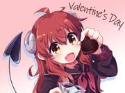 バレンタインなシャミ子イラスト