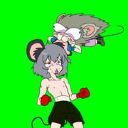 ボクシングをするネズミ