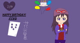 HAPPY BIRTHDAY!花元里恵 (はなもと りえ)