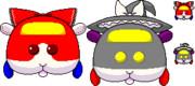 【東方×モルカー】ドット絵でPUIPUIモルカー風東方Project①霊夢&魔理沙