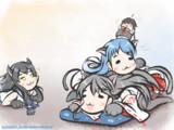 【艦これ】ぬこ艦日和【五月雨/榛名/伊47】