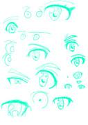 目を適当に描いた お絵描き2日目!