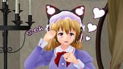 蓮子の作業を邪魔するネコメリー02