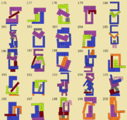 ニコニコタワー ブロックの組み合わせ例(176~200)