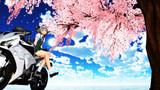 【東方バイクMMD】妖夢さんと桜