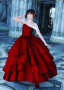 ロングドレス赤