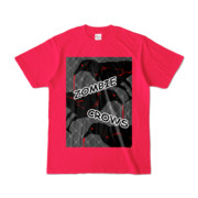 Tシャツ | ホットピンク | ゾンビカラスちゃん