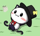 ポジティブ猫ヤミーくん 「ひと休み」