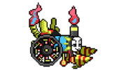【ドット絵】蛇と邪神とアルフレイム冒険譚のトーマス型パンジャンドラム