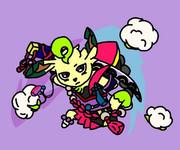 侍リーフィア(数珠丸恒次衣装)