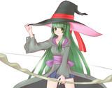 ずん子で西洋魔女+和弓