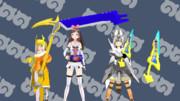 ゼロワンの武器アイテムモデル【MMDモデル配布あり】