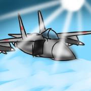 成層圏を超音速飛行するソビエト軍のMiG-25戦闘機