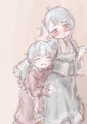 ロリータ衣装で戯れる福江と佐渡様