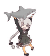 サメ確保踊りあかりちゃん(GIF)