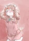 アニメ塗りの練習で適当に描いた女の子