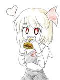 ルーミアとハンバーガー