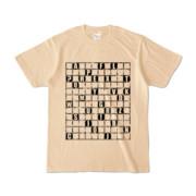 Tシャツ | ナチュラル | ALPHABET_GRAVEL
