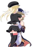 ハンスお姉ちゃんに抱きしめてもらうニーミちゃん