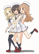 ミミちゃんミカンちゃんココちゃん Marine ver.